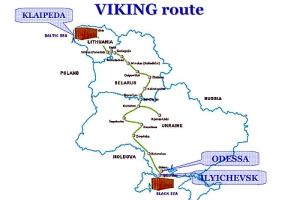 Viking Route, Map: Wikimedia