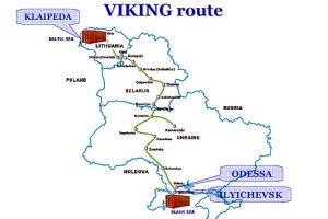 Viking Route, Map: Wikimedia