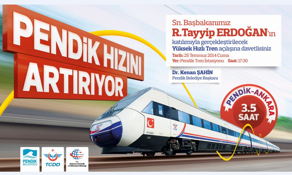 Ankara Istanbul High Speed Train Opening Ceremony