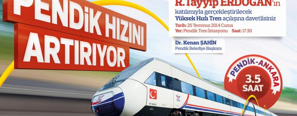 Ankara Istanbul High Speed Train Opening Ceremony