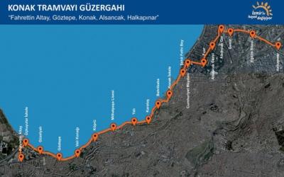 Konak Tram Route
