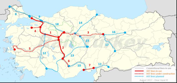290 - High speed train lines of Turkey - Onur Uysal