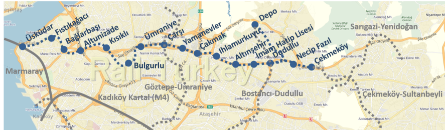 Üsküdar Çekmeköy metrosu (M5)