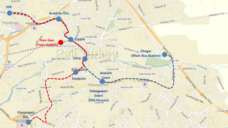 Eskisehir Train Station Map
