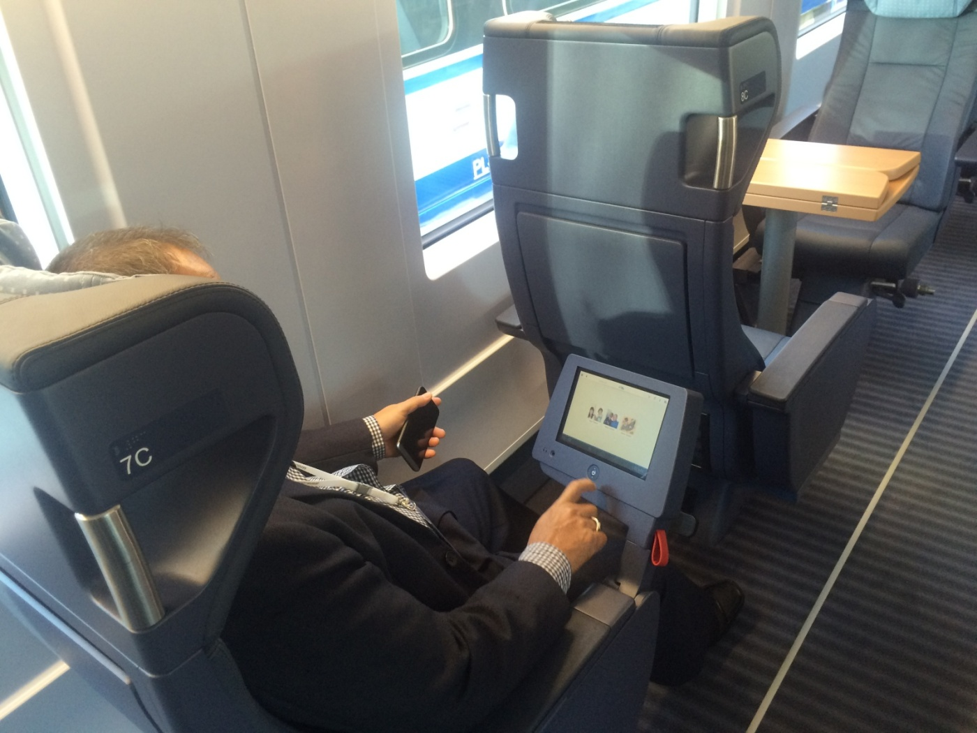 Page - New high speed train business class