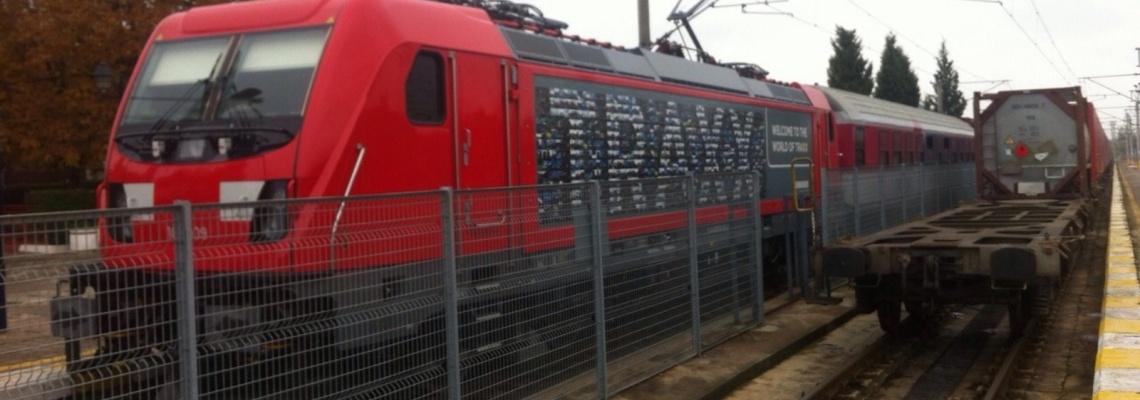 874 - Traxx loco at Kapikule