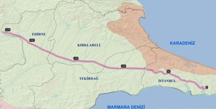 Halkalı - Kapıkule hızlı tren hattı
