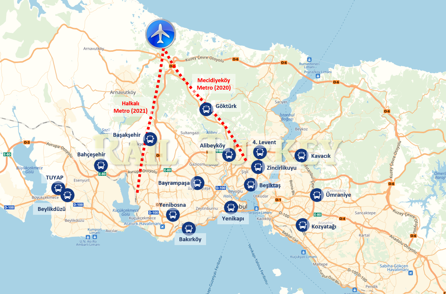 How to get to new airport of Istanbul? – Rail Turkey En