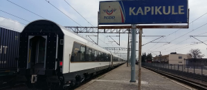 Baku train at Kapikule