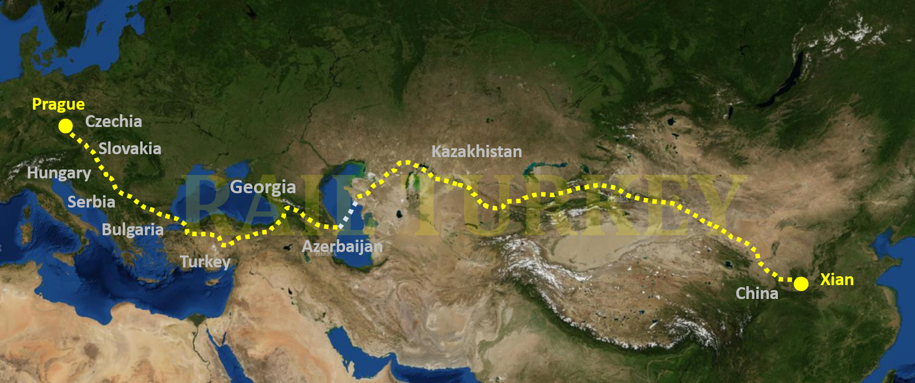 10 countries, 11500 km: China train at Turkey